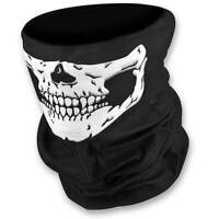3pcs Cycling Skull Bandana Half Face Mask Tube Scarf Half Skeleton -Reusable