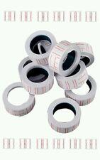 10 pcs blanc rolls prix gun etiquettes 22mm 12mm fit mx 5500 vendeur britannique free post