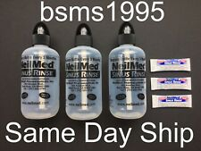 LOT OF 3 NEW NEILMED SINUS RINSE BOTTLES EMPTY 8 OZ OUNCES & 3 PACKETS EXP 3/23