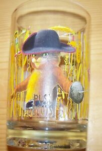 Shrek The Third McDonald's Collectible Glass - Cup - PUSS IN BOOTS