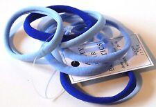 Élastiques cheveux lot de 6 attaches sans métal coloris bleu fabriqué en Italie