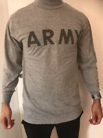 US ARMY PTU Physical Fitness Uniform - Long Sleeve - Langarm - grey/grau