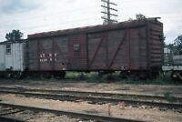 1971 ATSF Santa Fe 212981 Railroad Car Galesburg Illinois Original 35mm Slide