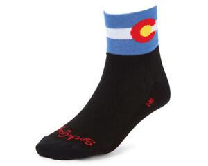 """Sockguy 3"""" Socks (Colorado Flag)"""