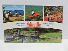 Vintage Skimobile North Conway NH Before Chair Lifts Skiing Mt Cranmore Postcard