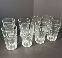 Vintage Set Of 8 Libbey Small Clear Glass Juice Glasses