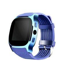 Tactical Bluetooth Smart Watch Facebook Whatsapp Camera SIM TF Card Phone Blue