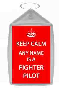 Fighter Pilot Personalised Keep Calm Keyring