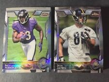 Lot Of (50) 2015 Topps Chrome Football  Refractor Rookie Cards.  All RC's  NM/MT