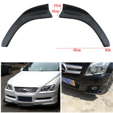 2xWinglet Type Style Carbon Fiber Car Front Bumper Lip Splitters Canard Diffuser