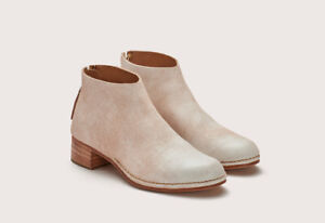 Authentic $700 New Feit for Garmentory Ceremonial Mid-Heel Boot Raw White Sz 38