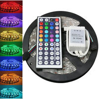 5M 5050 RGB SMD Waterproof 300 LEDs Flexible Strip Lights with 44 Key IR Remote