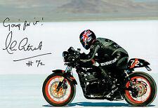 Alan CATHCART SIGNED Autograph 12x8 Photo E AFTAL COA Land Speed Record Holder