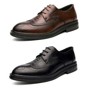 Men's Business Brogue Leather Lace-up Shoes Formal Profession Party Dress Shoes