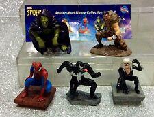 SUPEREROI SET 5 PERSONAGGI SPIDERMAN MARVEL GASHAPON TOMY SUPER HEROES