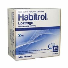Habitrol Nicotine Lozenge 2mg Mint Flavor Lozenges 216 Pieces Sugar Free 1 Box