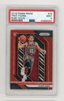 Trae Young 2018-19 Panini Prizm Card Ruby Wave #78 RC Rookie Atlanta Hawks PSA 9