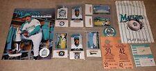 1993 MARLINS INAUGURAL YEAR LOT TICKETS SGA PINS PROGRAM PARKING PASSES LOOK!
