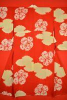 Vintage Japanese Kimono Silk Antique BORO JUBAN Kusakizome Dyed Textile/VQ60/500