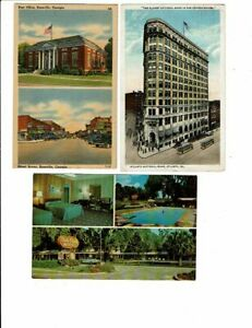 3 Card Georgia Lot, Brunswick Motel, Rossville Views, Atlanta Bank!