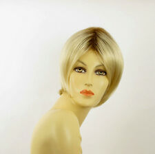 short wig woman smooth very clear golden blond ref: BLANDINE ys