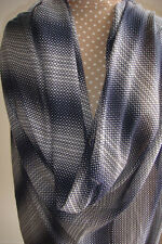 Vintage black & beige print fabric, semi sheer, synthetic 1.3m x 1.5m
