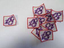 Set of 10 18th Pink Purple Birthday Scrapbook Crafts Card Making Motifs #31B37