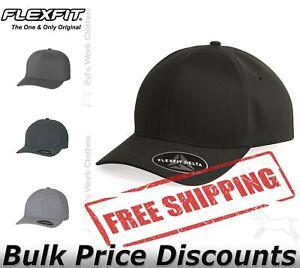 Flexfit Mens Hat Delta Seamless Cap 180 Blank Solid Plain Baseball 2 Sizes