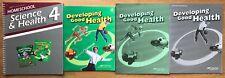 A Beka Developing Good Health Text, Answer Keys, Teacher Lesson Plans Science 4