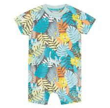 John Rocha Baby Boys Jungle Lions Romper Bodysuit Hat Newborn 0-3 Months