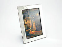 Bilderrahmen Fotorahmen 925er Sterlingsilber 10x15 cm Gravur Holz Bild Foto Neu