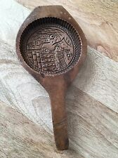 Vintage Hand Carved Wooden Butter Cookies Rice Sugar Cake Mold Cutter