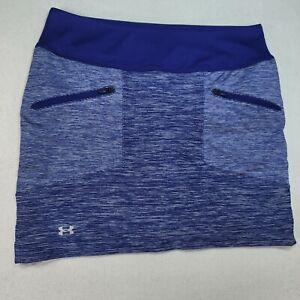 Under Armour HeatGear Womens Skirt Skort Tennis Golf Purple White Pockets Size M