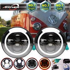 For Volkswagen Vanagon Truck 66-85 CREE LED Headlights High/Lo Beam Halo Dot Kit