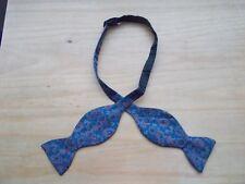 Men's Vintage Self Tie Bow Tie  Red  Blue Flower Tie Rack Silk Adjustable