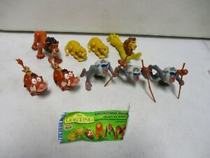 Walt Disney The Lion King Burger King Fast Food Toys