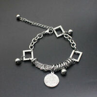 Mens Women Silver Stainless Steel Bracelet Bangle Wristband Cuff Chain Jewelry