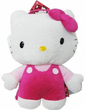 """Backpack 14"""" Full Body Plush Sanrio Hello Kitty Pink Overall NWT"""