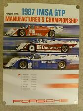 1987 Porsche 962 IMSA GTP Championship Showroom Advertising Poster RARE! Awesome
