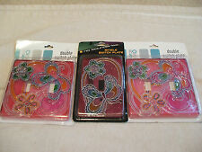 No Boundaries Girls Kids Room Butterfly Glitter Colorful Light Switch Plate Lot