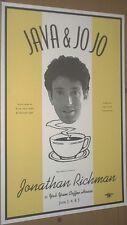 Jonathan Richman 1993 RARE CONCERT GIG POSTER Modern Lovers/Java & Jo Jo/no cd