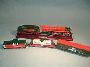X'MAS FRANKLIN MINT TRAIN 1998 NORTH POLE LIMITED DIECAST HO SCALE WITH DISPLAY