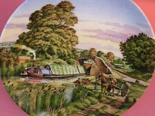 WORCESTER CANAL BOAT BARGE PLATE THE MEETING ROMANCE OF THE WATERWAYS BOXED