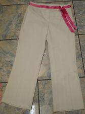 ESCADA WHITE STRETCH CROPPED PANTS 34 $545 GORGEOUS!!!