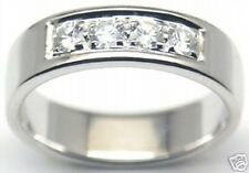 Elagant! Sterling Silver Band, White CZ, #154