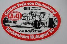 Aufkleber AvD F1 GP HOCKENHEIM Hockenheimring 1980 Racing Sticker Oldtimer