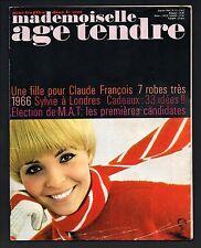 ▬► AGE TENDRE 15/1965 Claude François_Sylvie Vartan_France Gall_Annie Philippe
