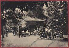 MILANO SAN COLOMBANO AL LAMBRO 14 BAR FONTI MINERALI Cartolina viaggiata 1953