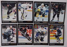 1993-94 Pinnacle Hartford Whalers Team Set of 8 Hockey Cards