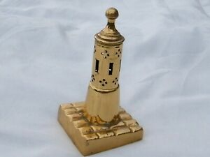 Brass Lighthouse Use With Tea Candle 12.5 cm Tall